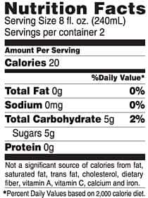 Grape Acai Nutritional Facts