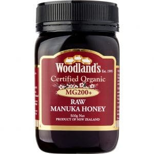 woodlands raw manuka honey MG200+ certified organic