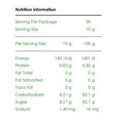 Pure Origins Organic Wild Raw Honey 500g Nutrition Information