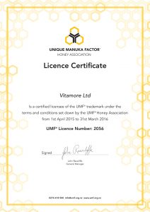Vitabeez Certification