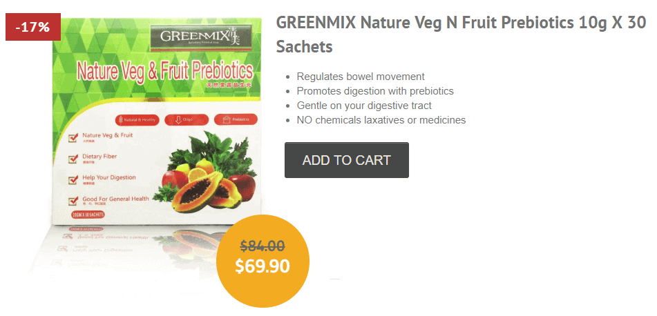 GreenMix prebiotic supplement