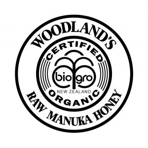 Woodland's organic manuka honey logo
