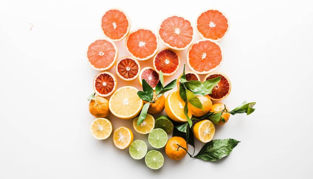 Grapefruit, oranges, lime and lemons for Vitamin C