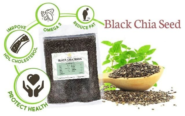 Black and WHite Chia seeds