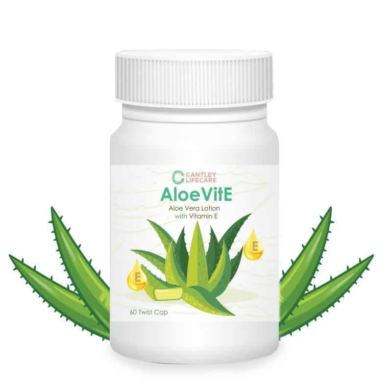 Product Cantley Lifecare AloeVitE Aloe Vera Vitamin E Lotion Capsules