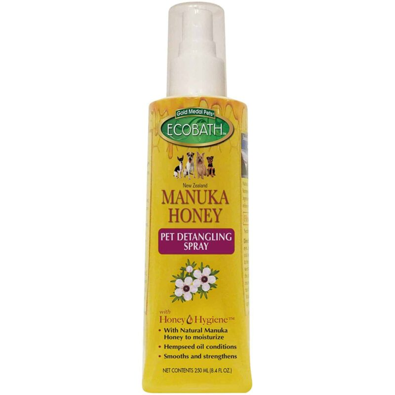 Eco-Bath-Manuka-Honey-Pet-Detangling-Spray-Dogs-Cats-8oz