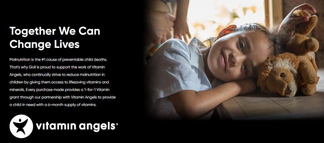 Goli donations vitamin angels