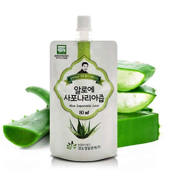 KDYALOE Organic Aloe Saponaria Juice Drinkable Konjac Jelly